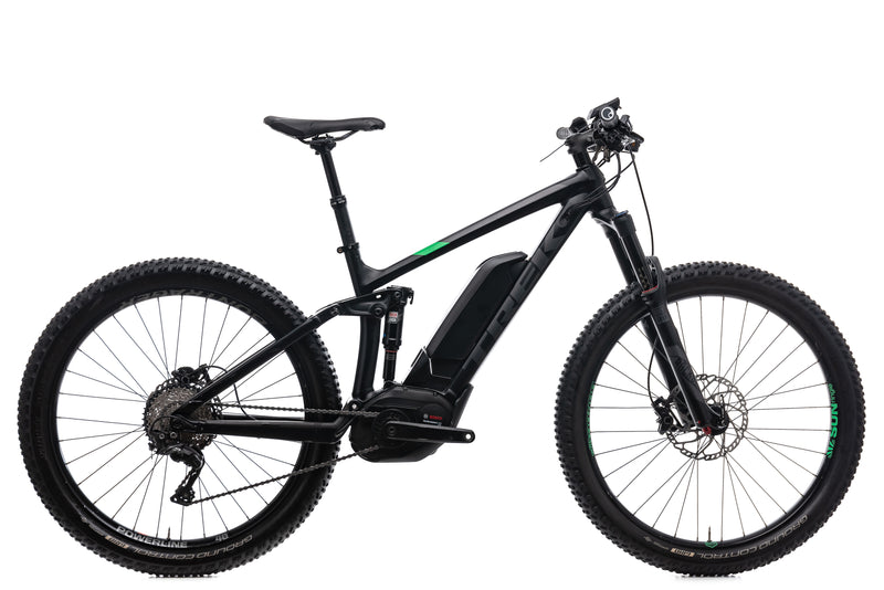 "Trek Powerfly 8 FS Plus 17.5"" Bike - 2017 drive side"