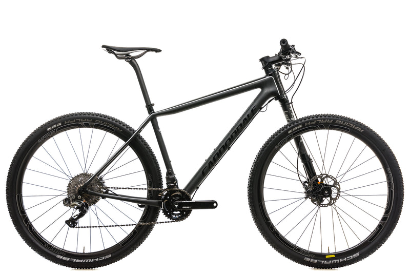 Cannondale F-Si Carbon Black Inc. Mountain Bike - 2017, Large drive side