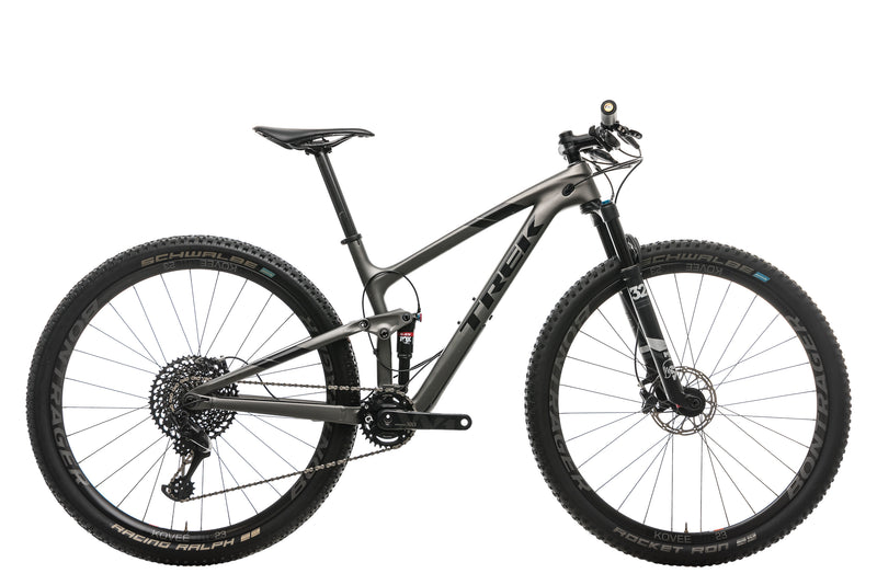 "Trek Top Fuel 9.8 SL Mountain Bike - 2019, 17.5"" drive side"