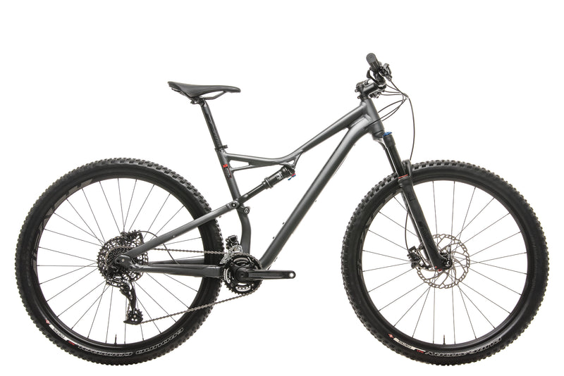 Specialized Camber FSR Comp 29 Mountain Bike - 2017, Large drive side