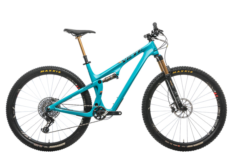 Yeti SB100 X01 Turq Mountain Bike - 2019, Large drive side