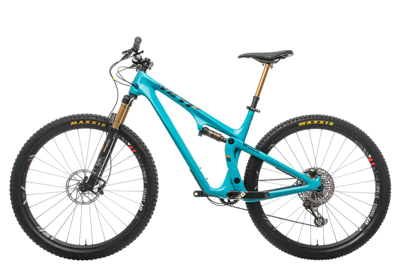 Yeti SB100 X01 Turq Mountain Bike - 2019, Large non-drive side
