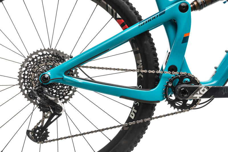 Yeti SB100 X01 Turq Mountain Bike - 2019, Large drivetrain