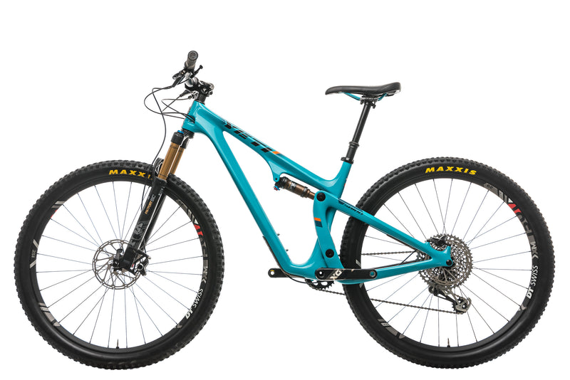 Yeti SB100 Turq Mountain Bike - 2019, Medium non-drive side