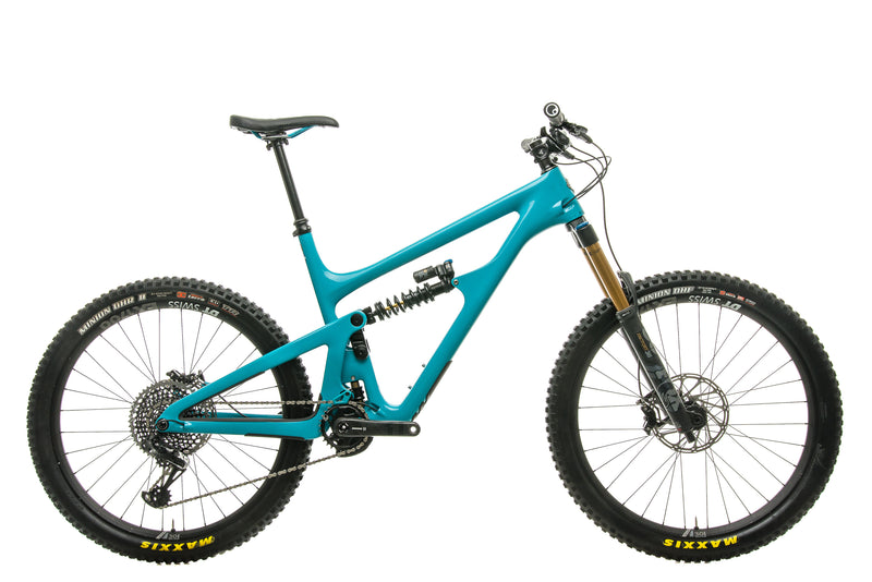 Yeti SB165 Turq T2 Mountain Bike - 2020, X-Large drive side