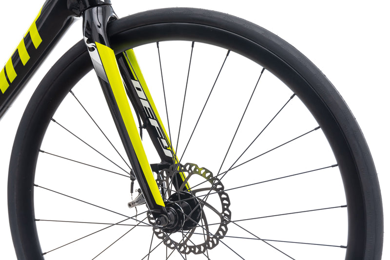 Giant Defy Advanced 2 Lime Medium Large Bike - 2016 front wheel