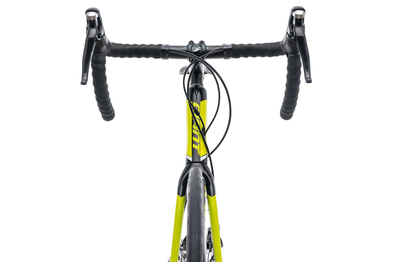 Giant Defy Advanced 2 Lime Medium Large Bike - 2016 cockpit