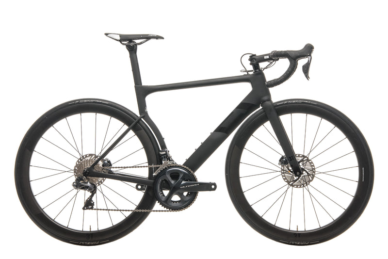 3T Strada Due Team Stealth Ultegra Di2 Road Bike - 2020, Medium drive side