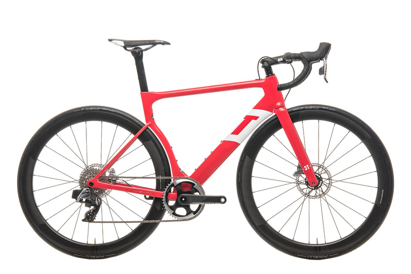 3T Strada Team Red AXS eTap Road Bike - 2020, Medium drive side