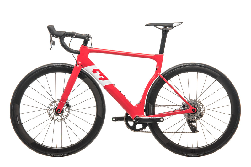 3T Strada Team Red AXS eTap Road Bike - 2020, Medium non-drive side