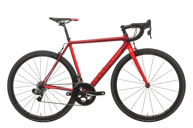 Cannondale SuperSix EVO Red eTap Road Bike - 2018, 52cm drive side