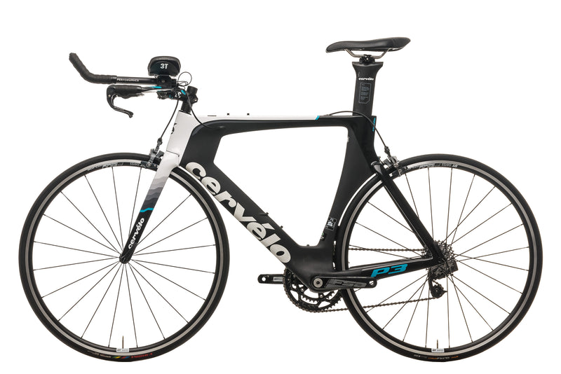 2016 Cervelo P3 Time Trial Bike Large 700c Carbon SRAM Red AXS non-drive side