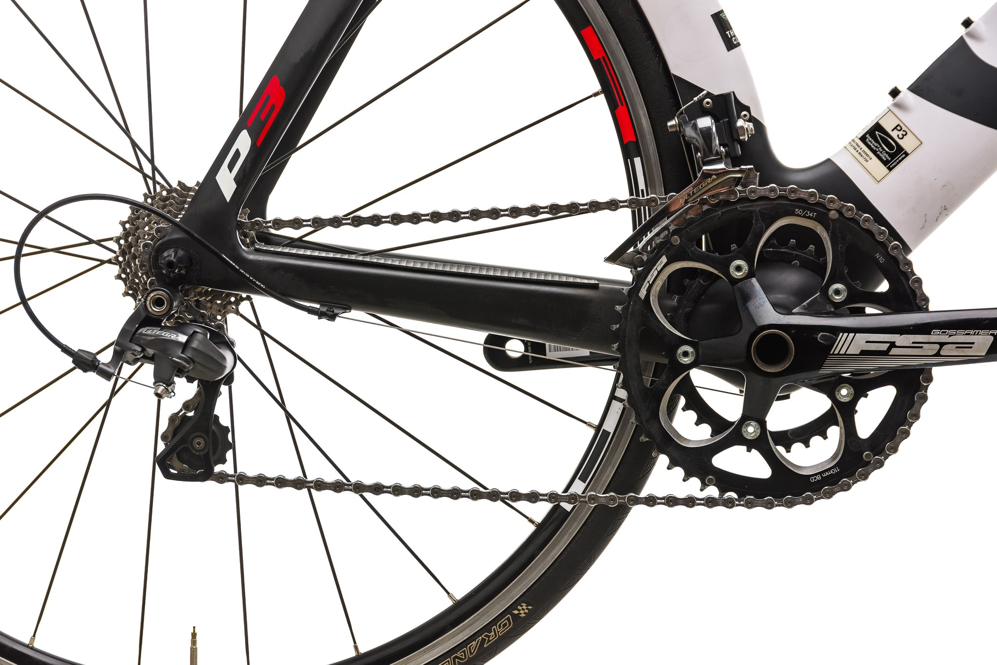 Cervelo P3 Time Trial Bike - 2013, 56cm drivetrain