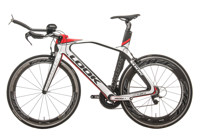Look 596 I-Pack Triathlon Bike - 2013, 55cm non-drive side