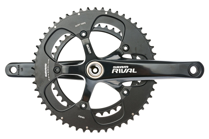 SRAM Rival Crankset 10 Speed 165mm 53/39T 130mm BCD GXP drive side