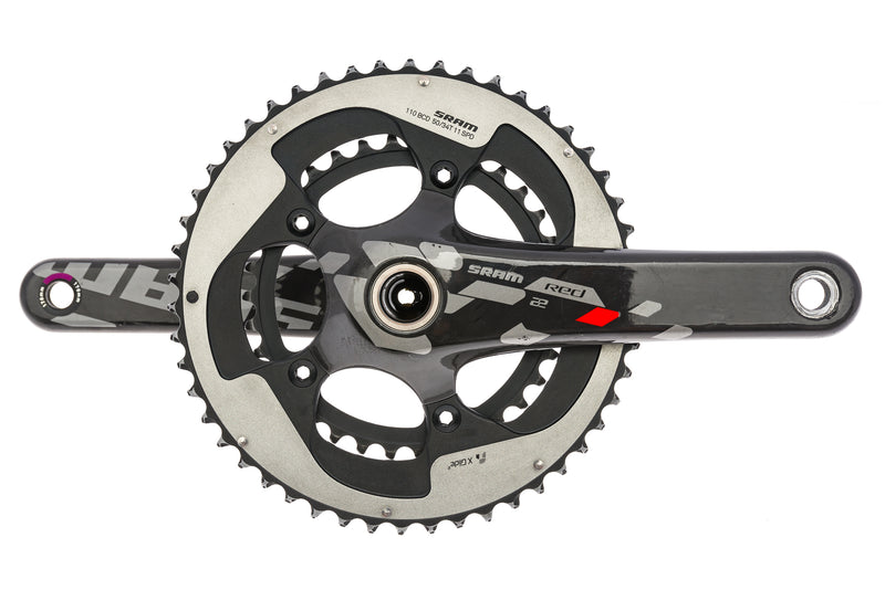 SRAM Red 22 Crankset 11 Speed 170mm 50/34T 110mm BCD GXP drive side