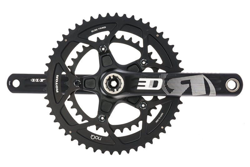 Rotor 3D30 Crankset 11 Speed 167.5mm 52/36T 110mm BCD BB30 drive side