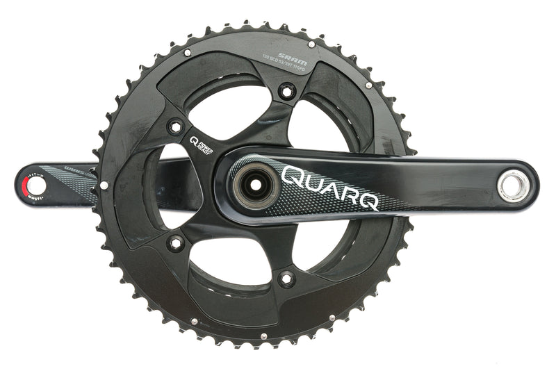 Quarq Prime Power Ready Crankset 11 Speed 165mm 53/39T 130BCD GXP drive side