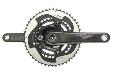 SRAM Quarq DZero Red Power Meter Crankset 11 Speed 175mm 50/34T 110mm BCD GXP - Pre-Owned