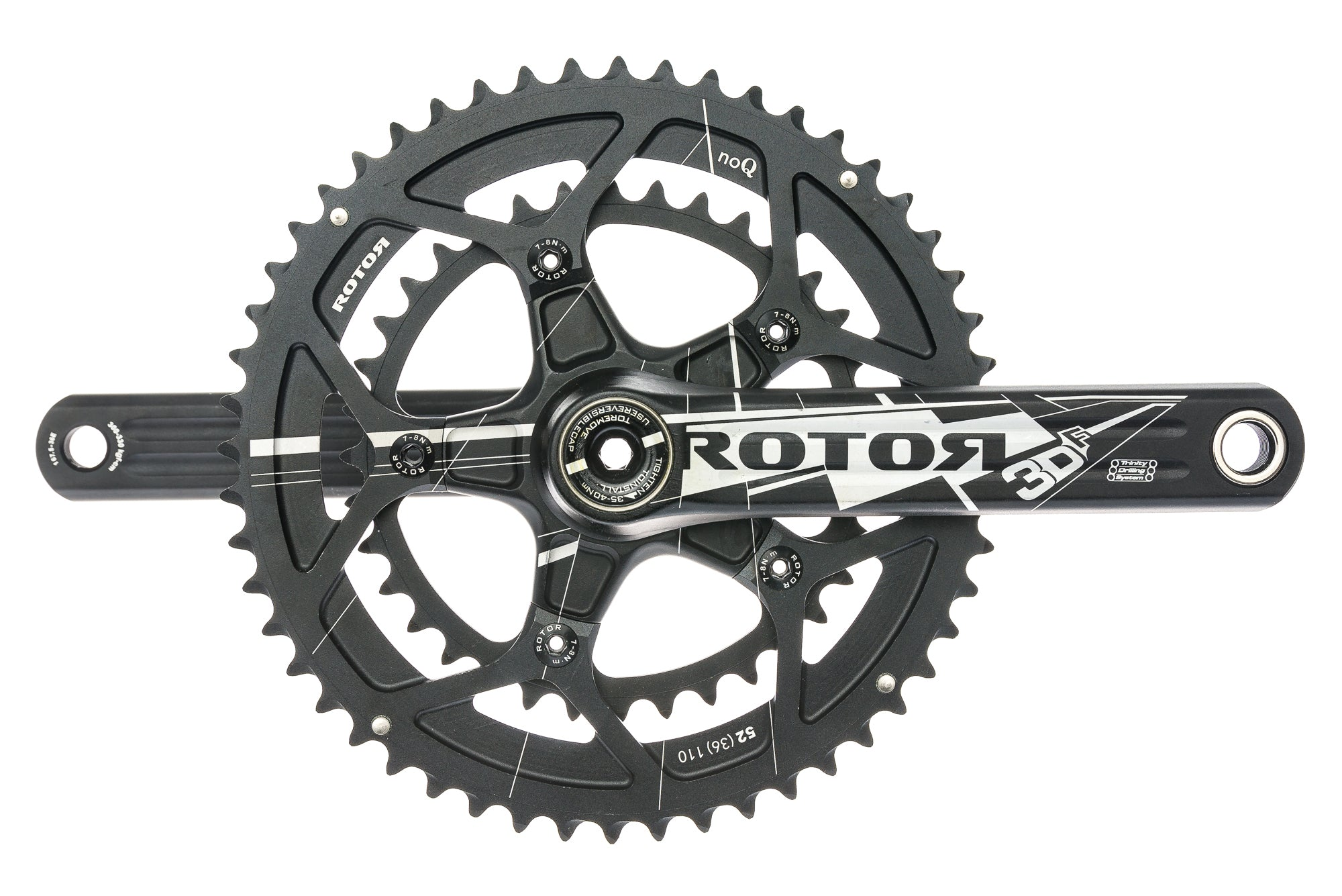 For Cervelo Rotor 3DF Forged BB Right BCD110x5 52//36T 175mm Road Crankset Black