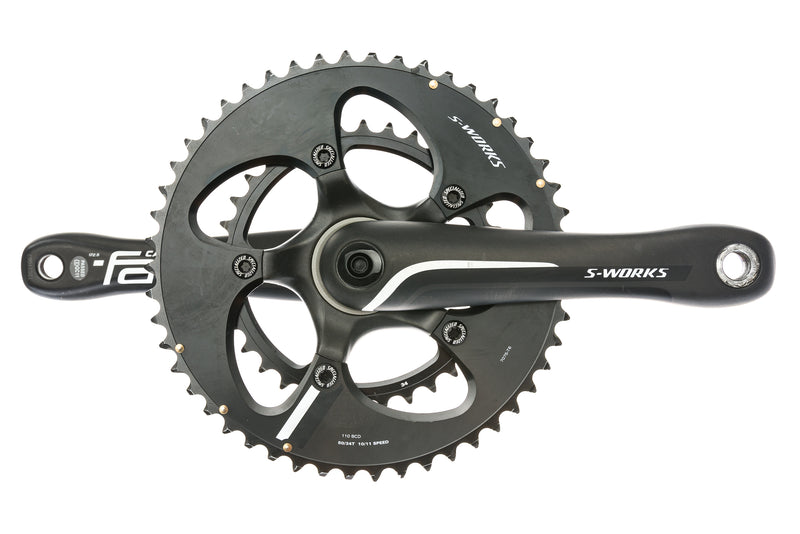 Specialized S-Works Crankset 10/11 Speed 172.5mm 50/34T 110mm BCD BB30 drive side