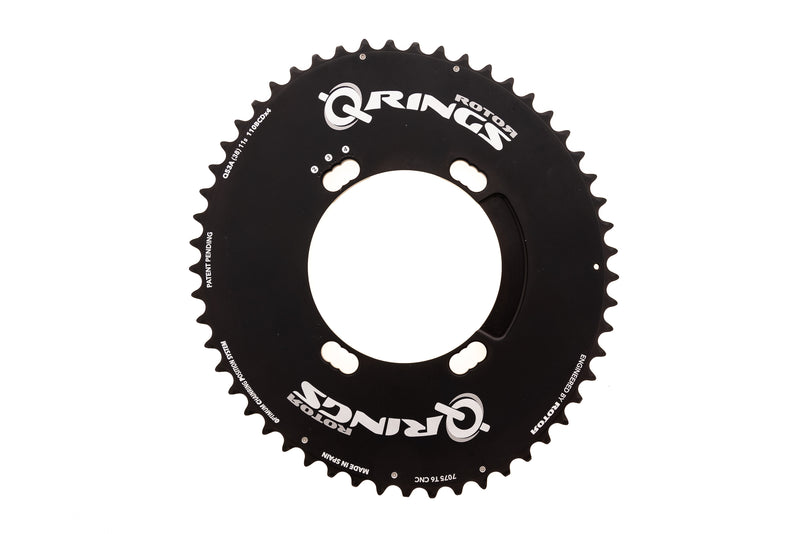 Rotor Aero Q-Ring Chainring 53T 11 Speed 110 BCD 4 Bolt Shimano drive side