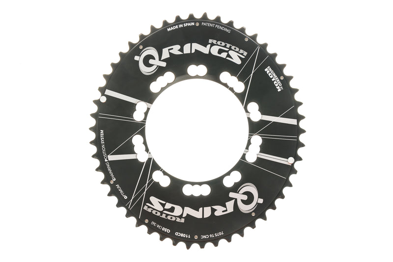 Rotor Q-Ring Aero Chainring 50T 11 Speed 110mm BCD drive side