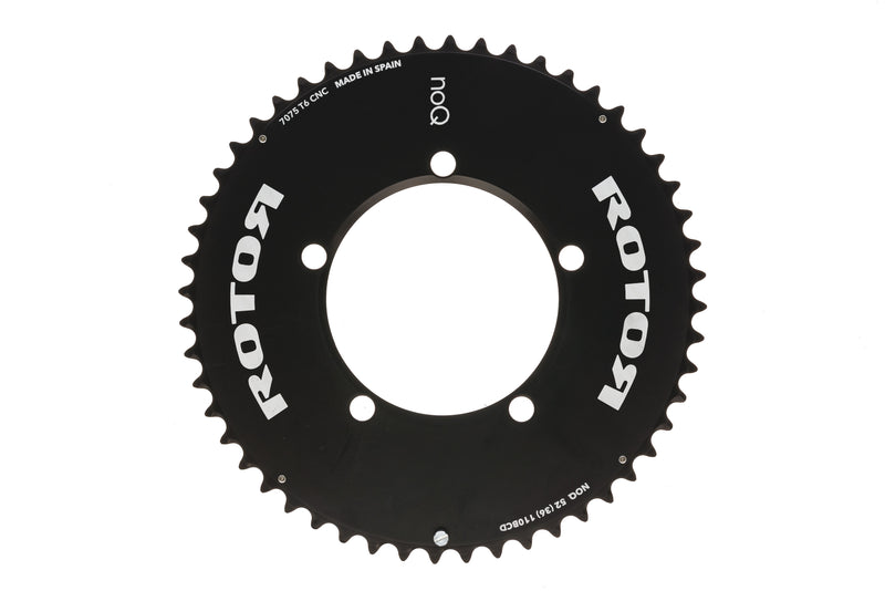 Rotor NoQ Aero 52t Chainring 11 Speed 110mm BCD - Re-Owned drive side