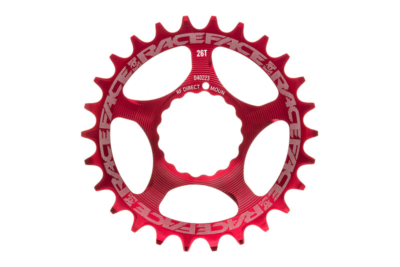 Race Face Narrow Wide Cinch Chainring 26T 11 Speed Direct Mount Red drive side