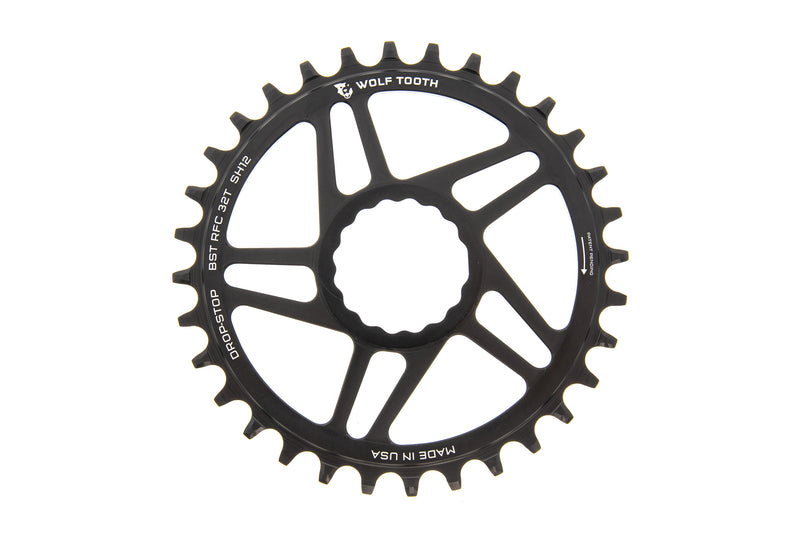 Wolf Tooth Direct Mount Race Face Cinch Shimano Hyperglide+ Chainring 32t 12 Speed drive side