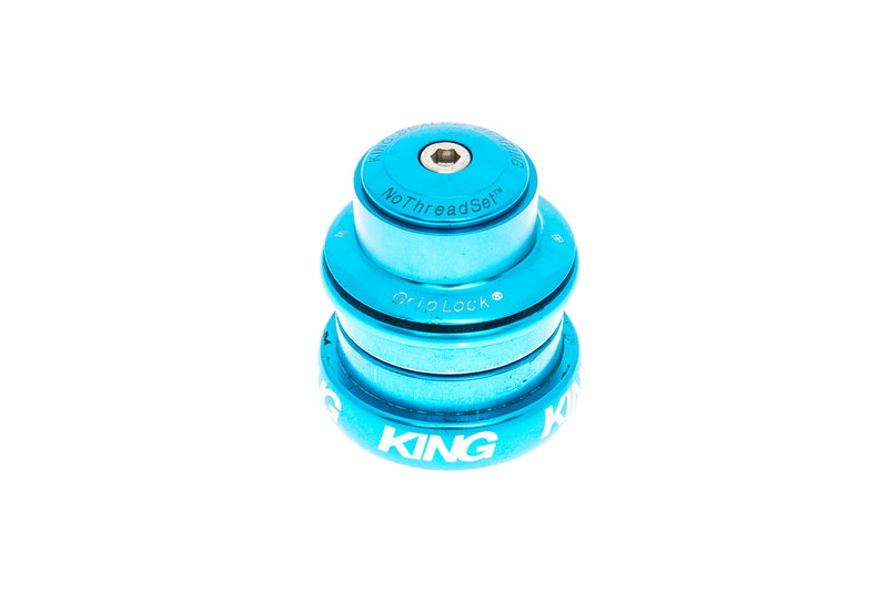 "Chris King InSet 8 Headset 1-1/8-1-1/4"" 44mm Turquoise drive side"