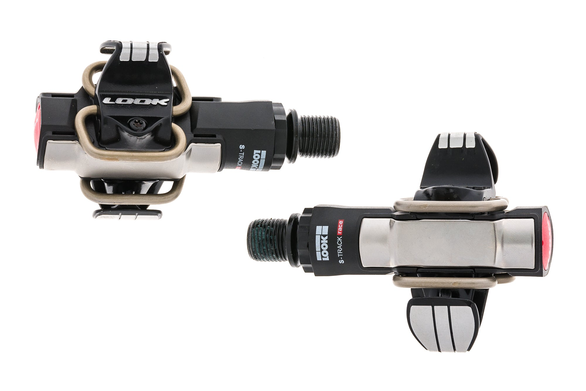 Look S-Track Race Pedals Clipless Black/Silver sticker
