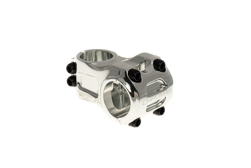 Chromag HiFi V2 Alloy Stem 31.8mm Clamp 50mm 0 Degree Silver Ano drive side
