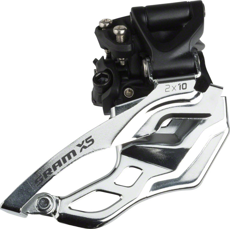 SRAM X5 Front Derailleur 2x10 Speed 31.8/34.9mm High Clamp Bottom Pull drive side