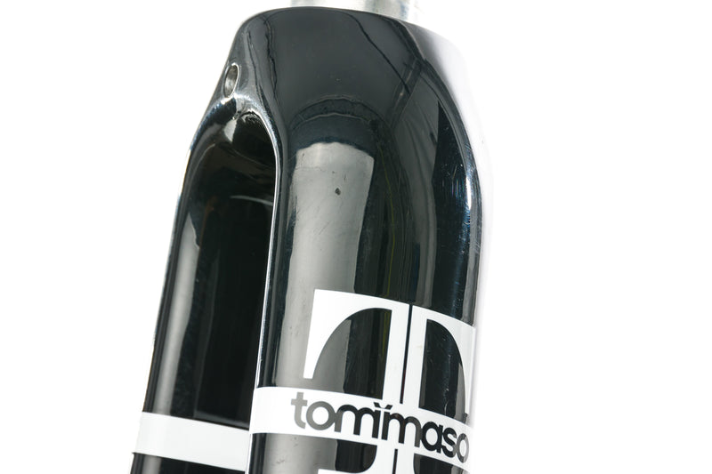 "Tommaso Aluminum Road Fork 700c 9x100mm QR 1-1/8"" Black sticker"
