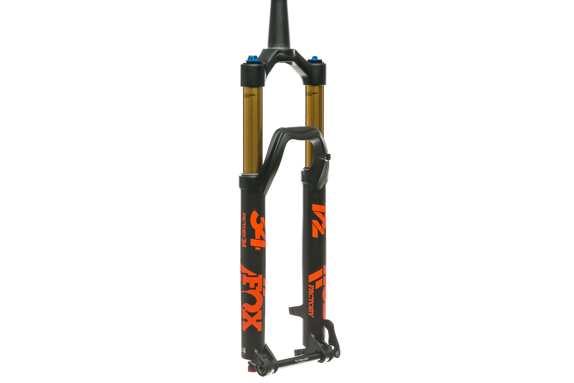 "2018 Fox 34 Float Factory FIT4 Fork 27.5"" 130mm 15x110mm Boost Thru Axle Tapered Matte Black/Red"
