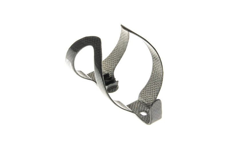 Q2 Carbon Water Bottle Cage Gloss Black drive side