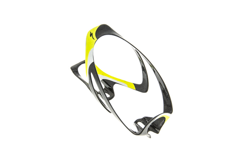Specialized Rib Cage Water Bottle Cage Carbon Glossy Black/Neon Yellow drive side