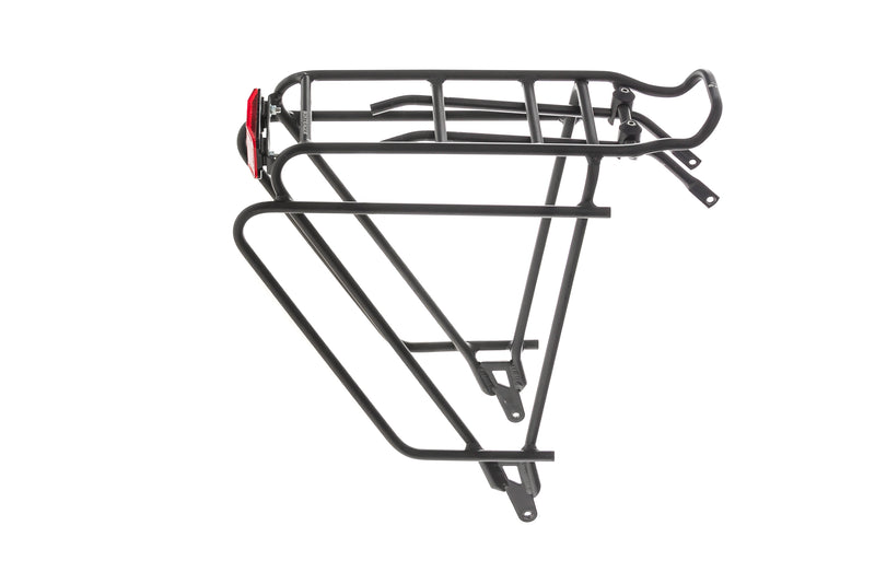 "Bontrager BackRack Deluxe Bike Rack Rear 13-18"" Black drive side"