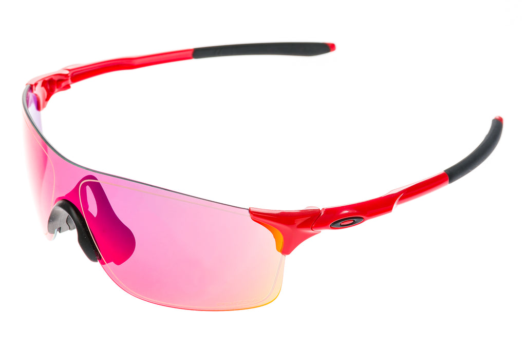 Oakley EV Zero Sunglasses Red/Black Frame Red Prizm Lenses drive side
