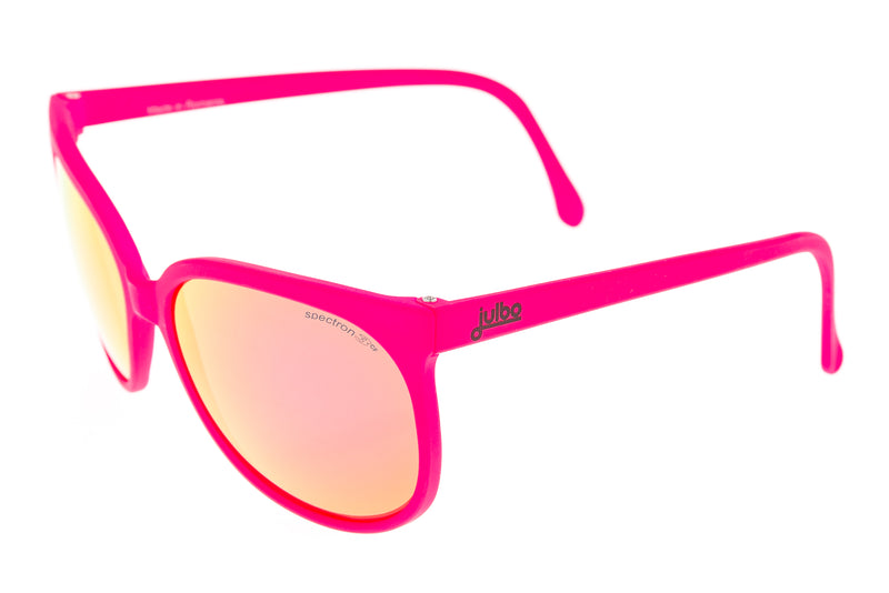 Julbo Megeve Sunglasses Pink Frame Pink Mirrored Lens drive side