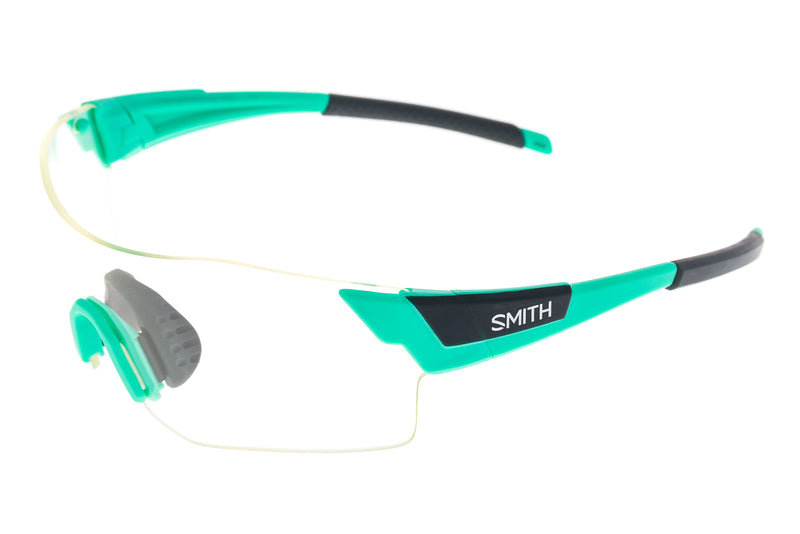 Smith Pivlock Arena Sunglasses Opal Frame Platinum & Clear Lenses drive side