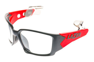 Lazer Magneto M2 Sunglasses Black/Orange Frame Clear Lens