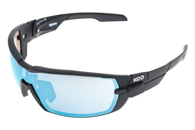 Kask Koo Open Sunglasses Matte Black Frame Superblue/Clear Lens