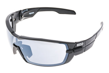 Koo Open Sunglasses Black Frame Smoke Mirror & Clear Lenses