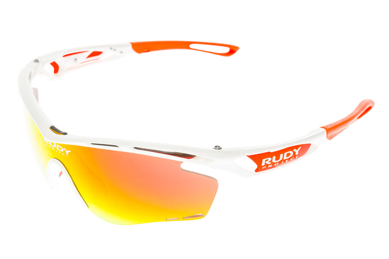 Rudy Project Tralyx Sunglasses White/Orange Frame Orange Lens drive side