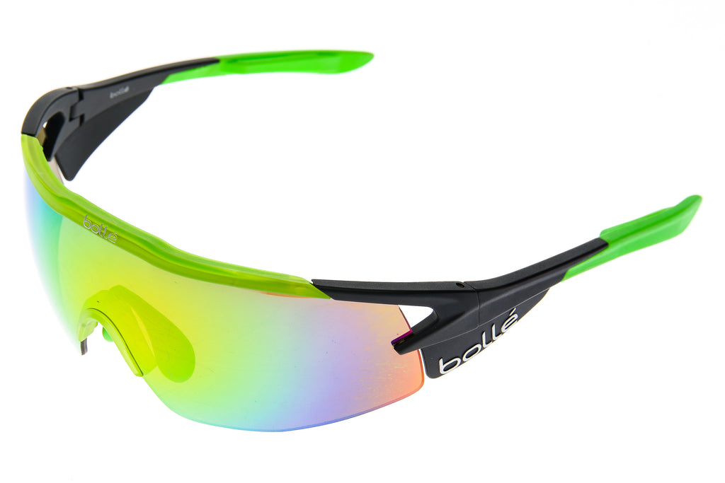 a760dcbec8 Bolle Aeromax Sunglasses Green/Matte Black Frame Brown Emerald Lens -  Pre-Owned