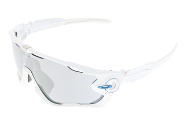 Oakley Jawbreaker Sunglasses Polished White Frame Gray Lens