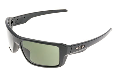 Oakley Double Edge Sunglasses Matte Black Frame Black Lens