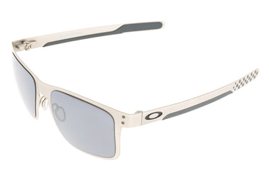 Oakley Holbrook Metal Sunglasses Satin Chrome Frame Black Iridium Lens